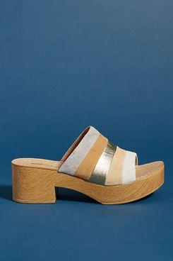 Matiko Striped Platform Sandals