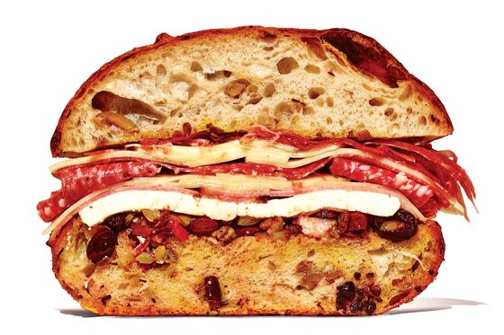 Lord Hamm's three-way muffuletta.