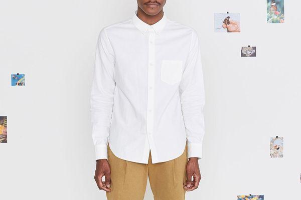 Entireworld Men's Type A White Oxford Shirt