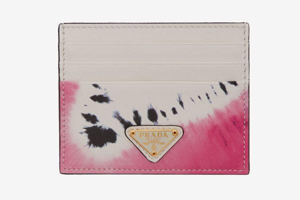Prada SSENSE Exclusive White Tie-Dye Card Holder