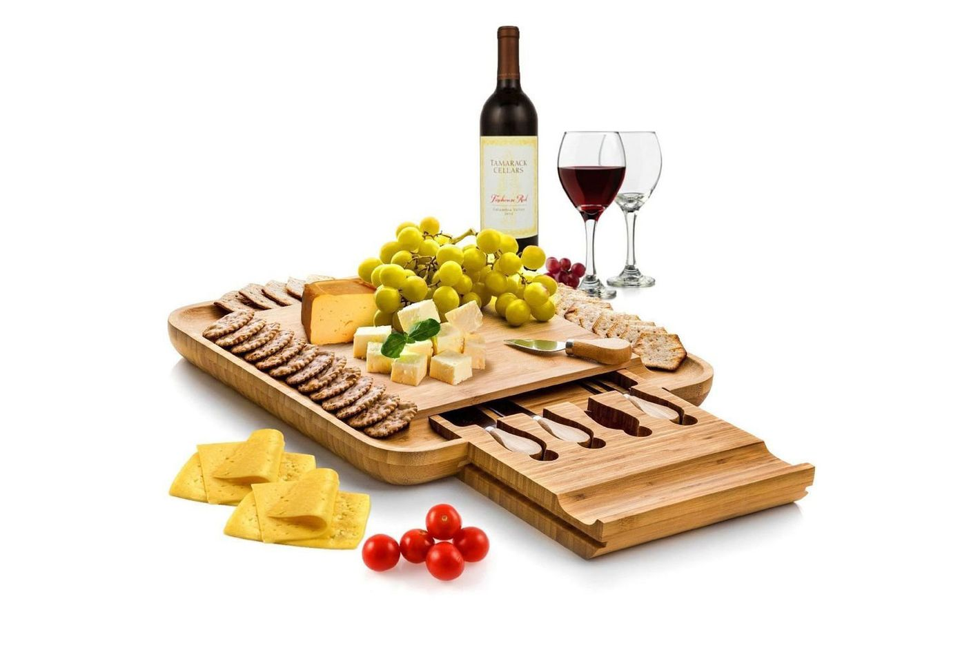 Bamboo Cheeseboard and Charcuterie Set