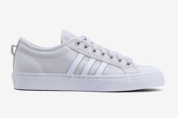Adidas Originals Nizza Leather-trimmed Canvas Sneakers