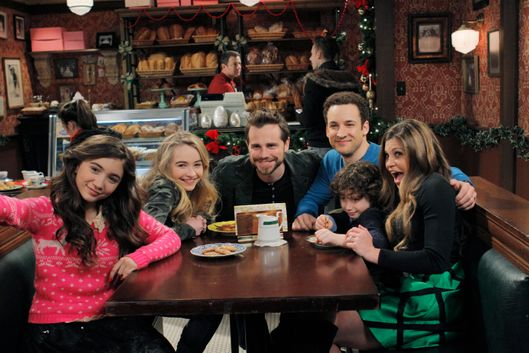 "GIRL MEETS WORLD - ""Girl Meets Home for the Holidays"" - It's Christmas at the Matthews, and Cory's best friend Shawn Hunter, Riley's grandparents, and Uncle Joshua are coming over for a holiday dinner. Meanwhile, Topanga works on executing the perfect meal to put her mother-in-law at ease while Shawn sees his likeness in Maya and forms a bond with her and Riley. Guest starring are Rider Strong as Shawn Hunter, Betsy Randle as Amy Matthews, William Russ as Alan Matthews and Uriah Shelton as Joshua Matthews.  Premieres Friday, December 5 (8:00 p.m.) on Disney Channel. (Disney Channel/Tony Rivetti)ROWAN BLANCHARD, SABRINA CARPENTER, RIDER STRONG, BEN SAVAGE, AUGUST MATURO, DANIELLE FISHEL"