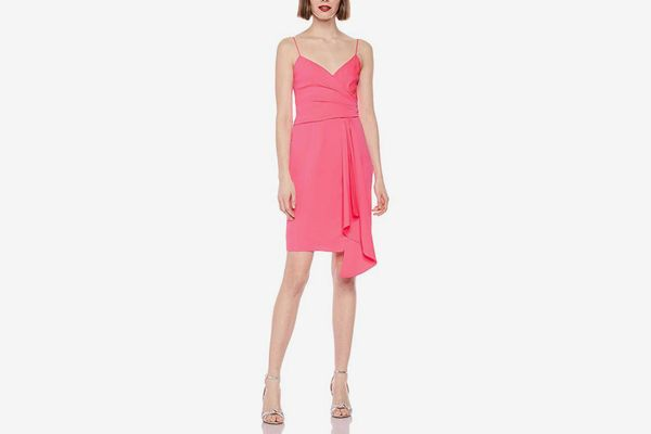 MILLY Women's Stretch Silk Spaghetti Strap Cindy Dress