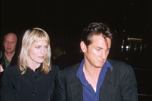 Sean Penn and Robin Wright during Sweet & Lowdown Premiere at The Academy in Beverly Hills, California, United States. (Photo by J. Vespa/WireImage)
