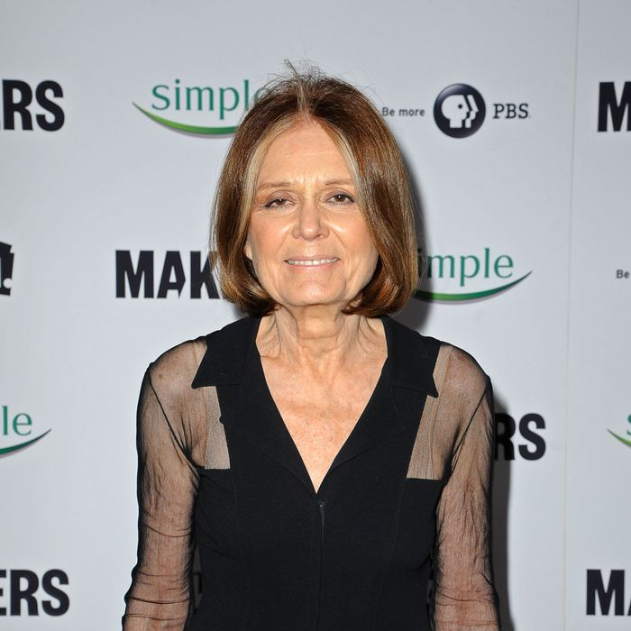 Gloria Steinem arrives at