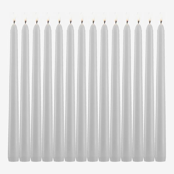 Light In the Dark White Taper Candles