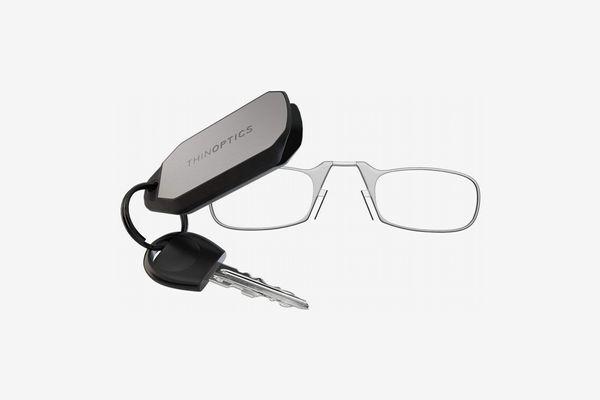 ThinOptics Keychain Reading Glasses, Clear Frame