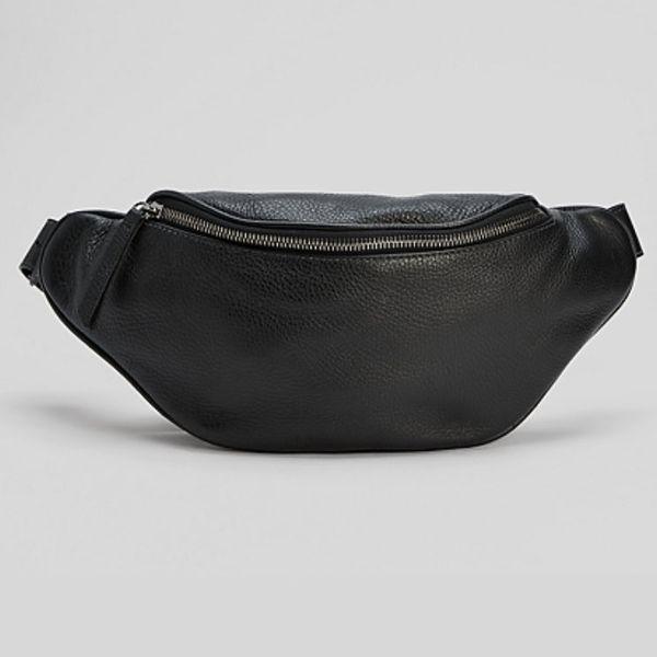 Eileen Fisher Grainy Italian-Leather Belt Bag