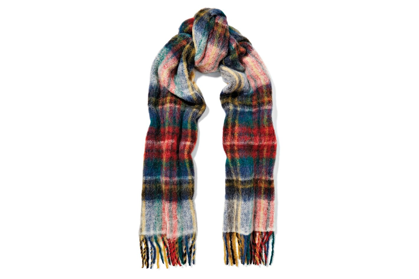 Holzweiler Tableau large fringed plaid wool scarf