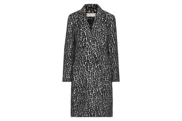 MICHAEL MICHAEL KORS Double-breasted leopard-print bouclé coat