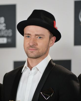 Justin Timberlake at the MTV Video Music Awards August 25, 2013 at the Barclays Center in New York.