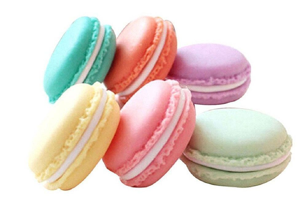 QTMY Colorful Mini Macaron Shape Storage Boxes, Set of 6