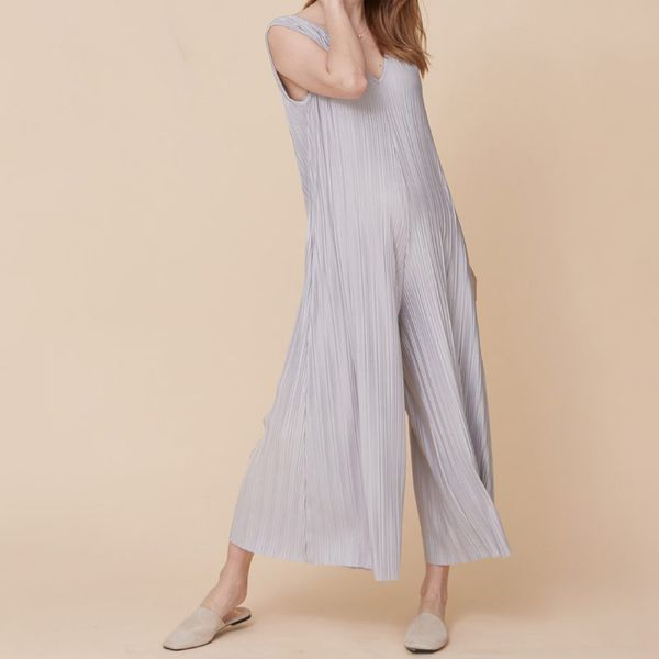 Nothing Fits But Infinite Stretch Pleated Jumpsuit
