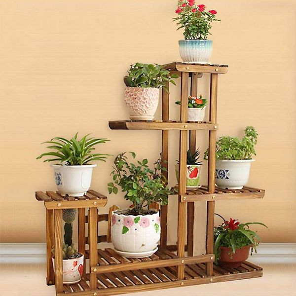 Shoze Wooden Flower Rack
