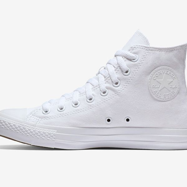 Converse Chuck Taylor Monochrome High-Top  White Platform Sneakers