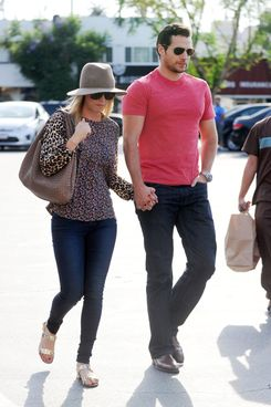 Kaley Cuoco and Henry Cavill go shopping hand-in-hand at Gelsons in Sherman Oaks, CA.