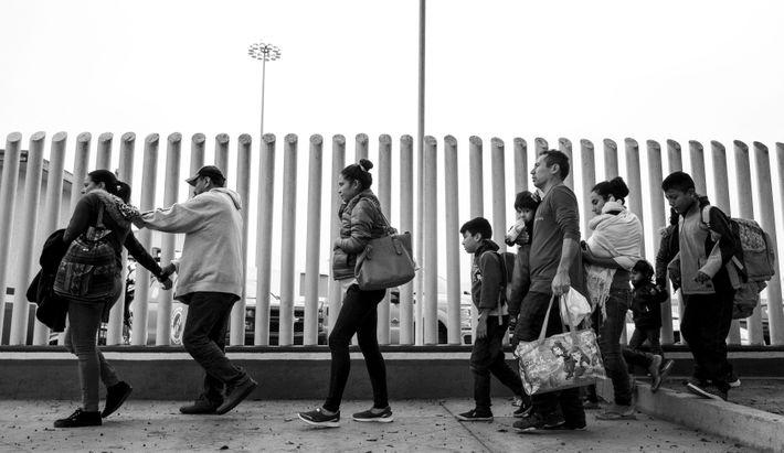 Migrants along the U.S.-Mexico border.