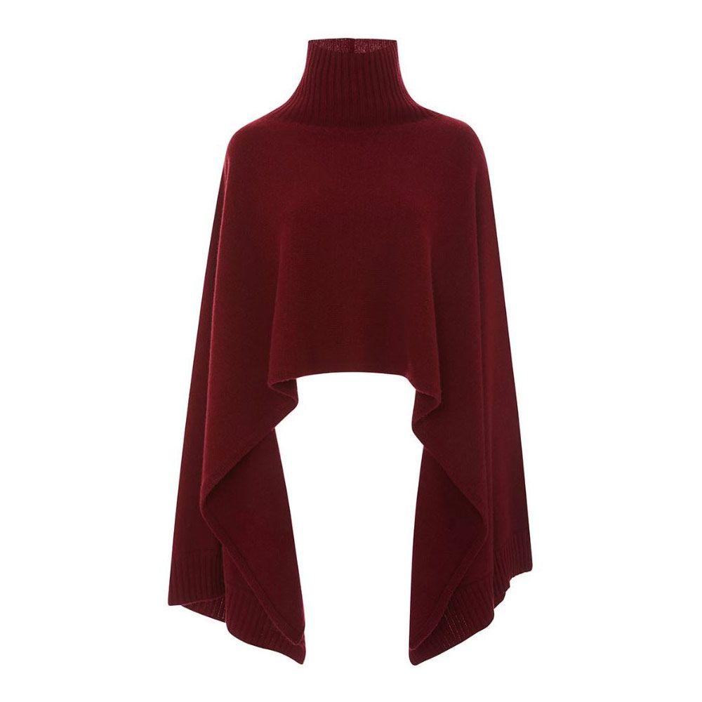 Rosetta Getty cashmere merino turtleneck cape sweater