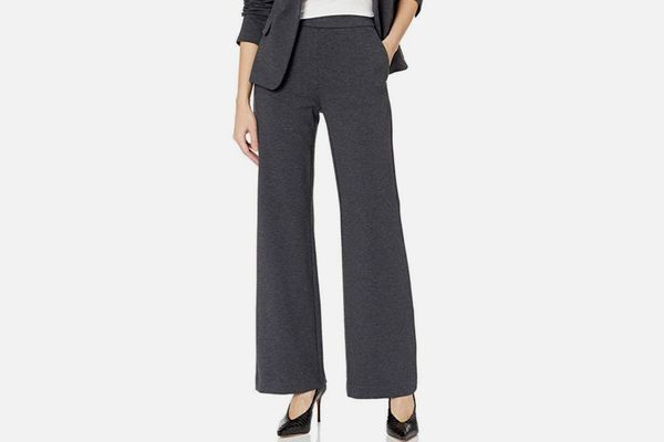 Lark & Ro Women's Wide Leg Ponte Pant