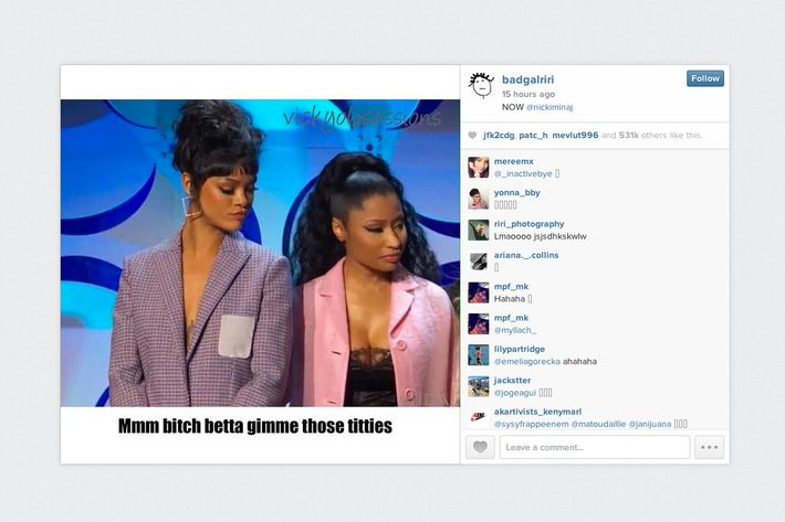 A slice from Rihanna's perfect Instagram.