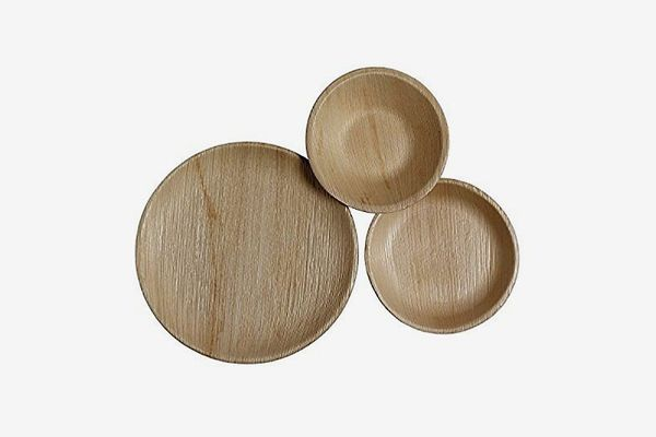 CaterEco Round Palm Leaf Plates Set (75 Pack)