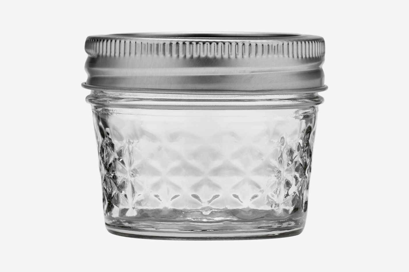 Ball 4-Oz. Quilted Crystal Jelly Jar With Lid and Band