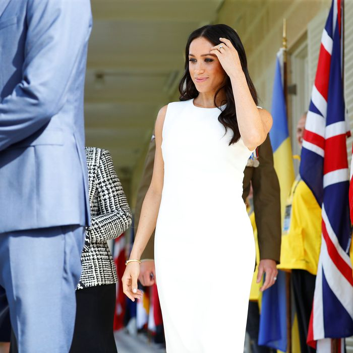 Meghan Markle's first post-baby news appearance.