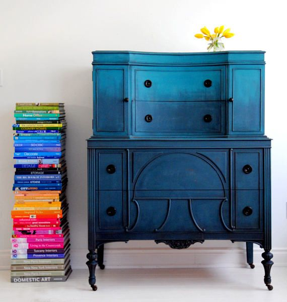 Dark Blue Chalk Paint Kitchen Cabinets: Best Dressers Under $500, According To Interior Designers