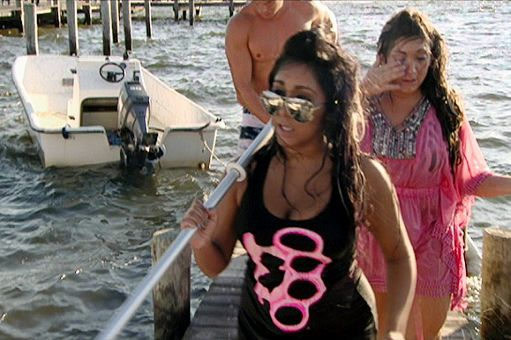 Snooki and Deena manage to make it out of the water alive.