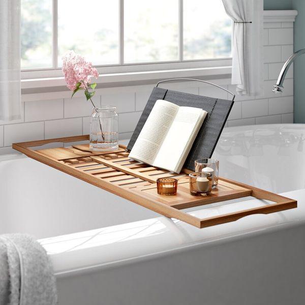 Rebrilliant Brown/Gray Gardner Bamboo Bath Caddy