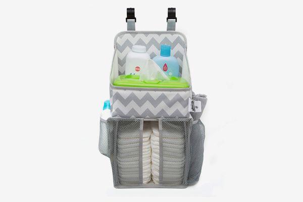 California Home Goods Playard Diaper Caddy and Nursery Organizer