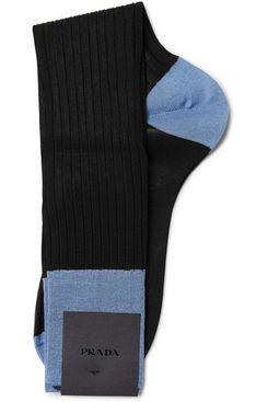 Prada Two-Tone Cotton Socks