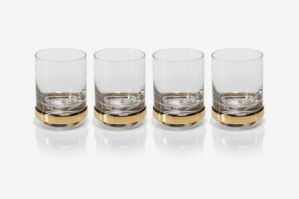 Zodax Artu Set of 4 Double Old Fashioned Glasses
