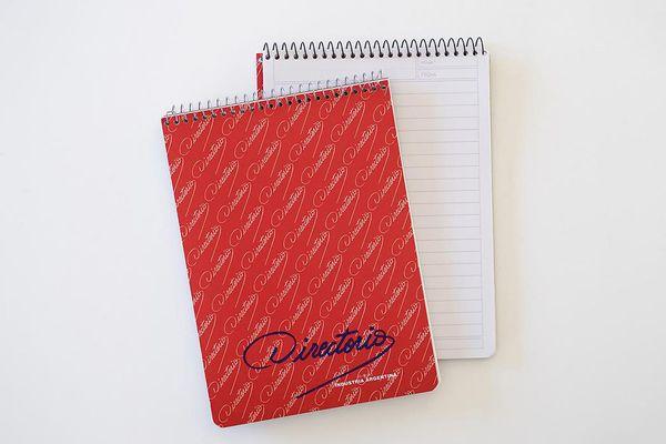 Fruit Patterned Hardback Spiral A5 Lined Notebook /& Pen Set