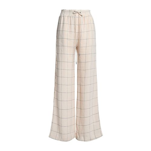 Zimmerman Checked linen wide-leg pants