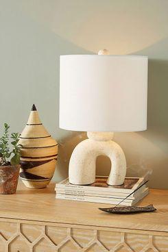 Anthropologie Small Mesa Ceramic Lamp Ensemble