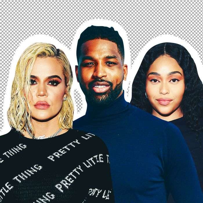 Khloé Kardashian, Tristan Thompson, and Jordyn Woods.