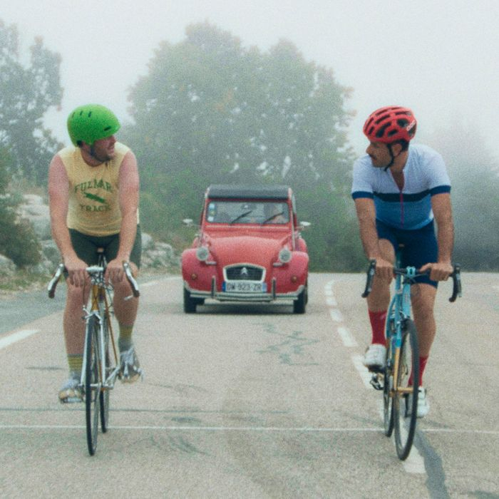 Kyle Marvin and Michael Angelo Covino in The Climb.