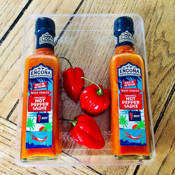Encona West Indian Hot Pepper Sauce 220 ml (Pack of 2)