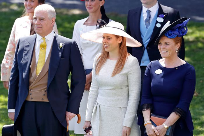 Princess Eugenie's family: her dad Prince Andrew, sister Princess Beatrice, and mother Sarah, Duchess of York.