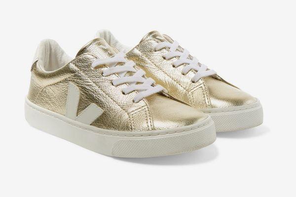 Veja Kids Esplar Metallic Leather Sneaker