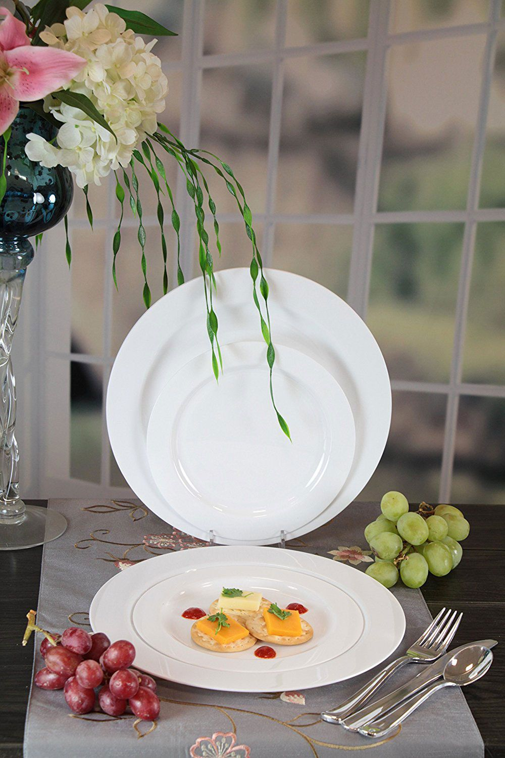 Premium Quality Heavyweight Plastic Plates & Best Fancy Disposable Plates on Amazon