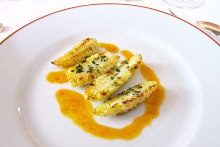 A dish at l'Arpege.