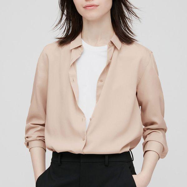 Uniqlo Rayon Long-Sleeved Blouse