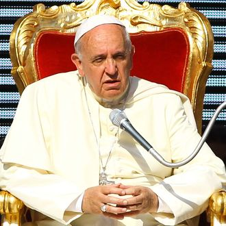 Pope Francis meets the Movement of the Holy Spirit Renewal at the Olympic Stadium on June 1, 2014 in Rome, Italy.