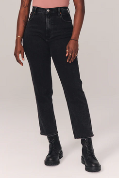 Abercrombie & Fitch Ultra High-Rise Ankle Straight Jeans