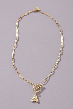 Anthropologie Chain Link Monogram Necklace