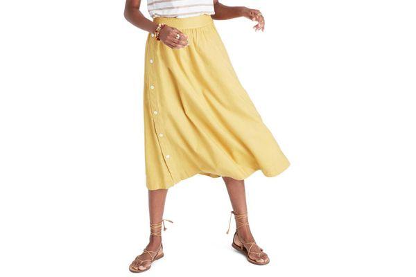 Madewell Side Button Skirt