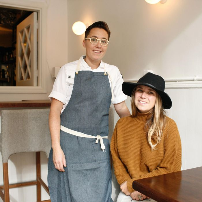 Elise Kornack handles the food, and Anna Hieronimus takes care of the service and the wine.